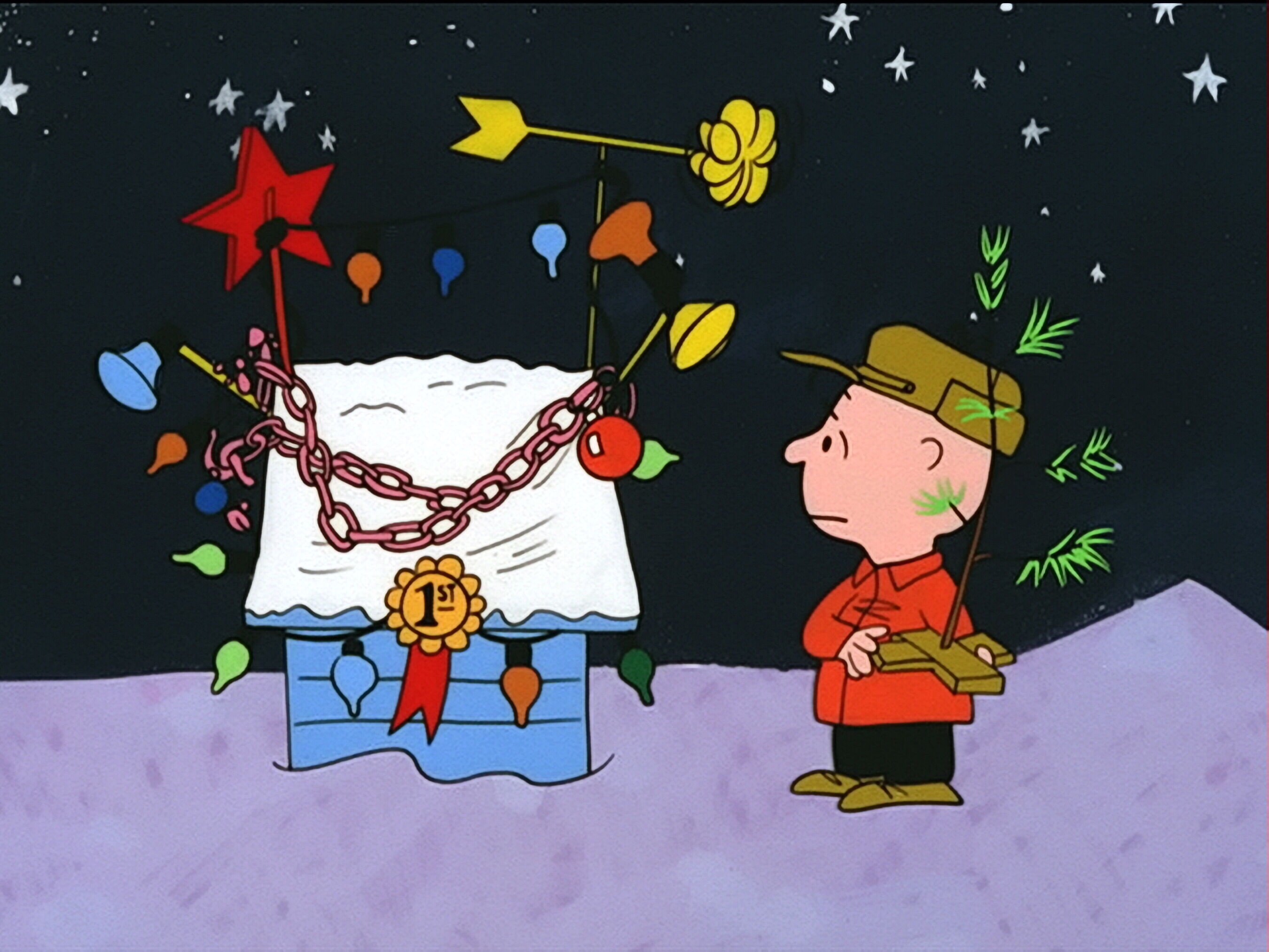 Charlie Brown Christmas Snoopy Doghouse